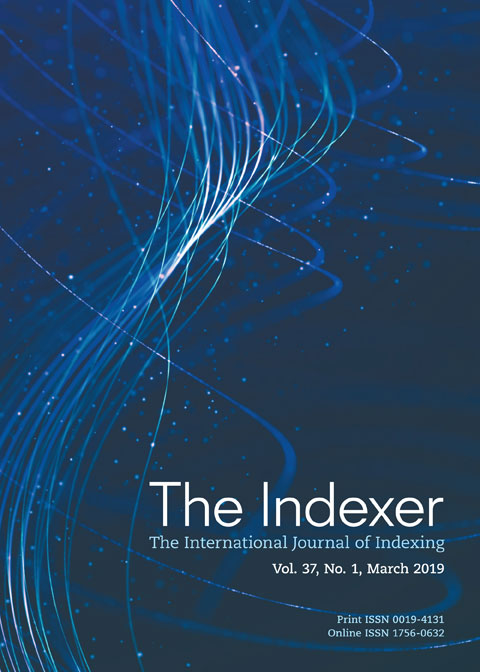 The front cover of The Indexer